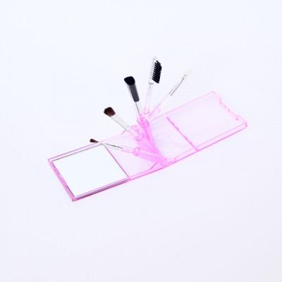 863, Набор кистей для макияжа в футляре с зеркалом, , 39 грн., М-2021, Lorina, Косметические кисти, аппликаторы, спонжи