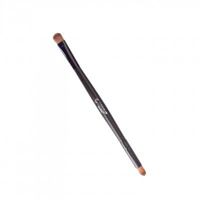 Двухсторонняя кисть для нанесения и растушёвки теней, тушевки карандаша